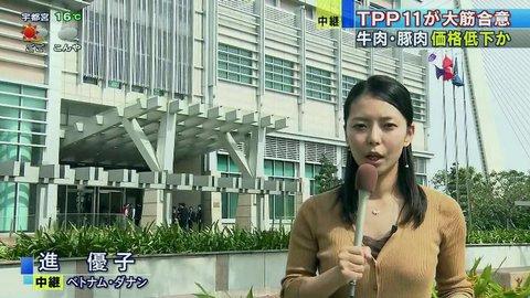 福田次官にセクハラされたのはTV朝日の進優子さんでした。